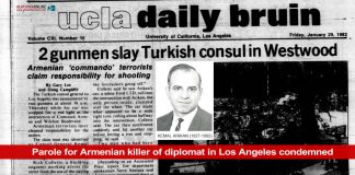 Parole for Armenian killer of diplomat in Los Angeles condemned
