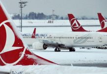 Turkish Airlines Snow Cancelled Flights New York